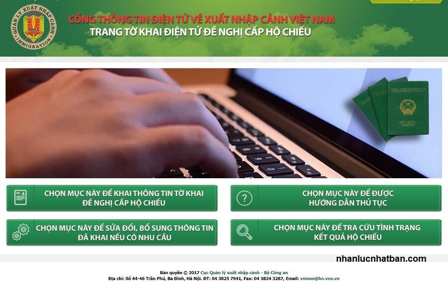 Làm hộ chiếu online tại Hà Nội