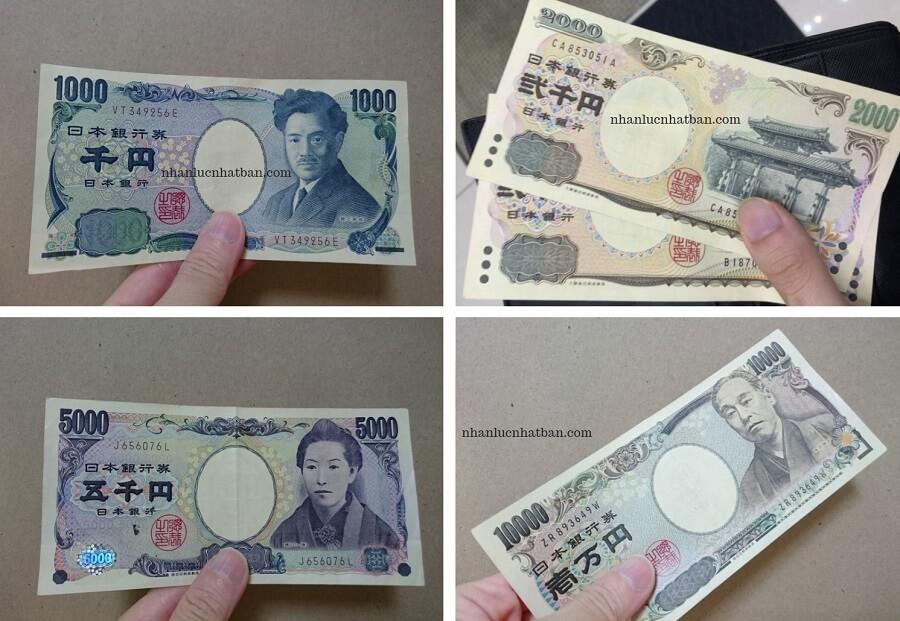 Các loại tiền giấy ở Nhật Bản