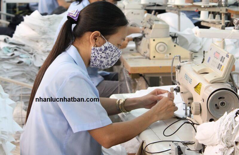 Đơn hàng may mặc xuất khẩu lao động sang Nhật