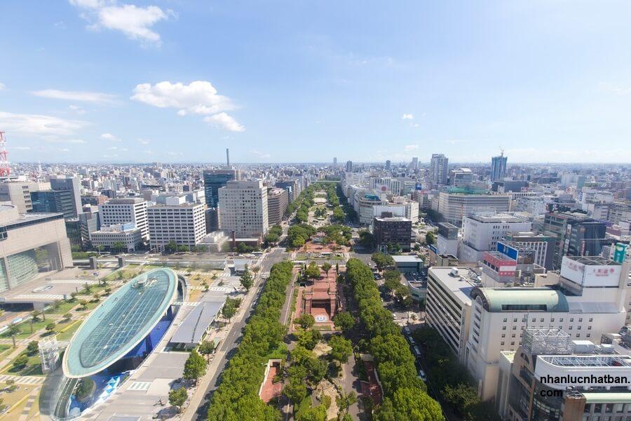 Thành phố Nagoya nhìn từ trên cao
