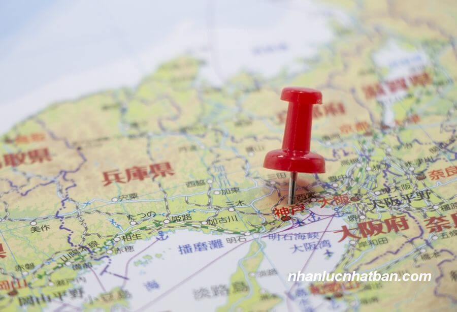 Vị trí địa lý tỉnh Hyogo Nhật Bản