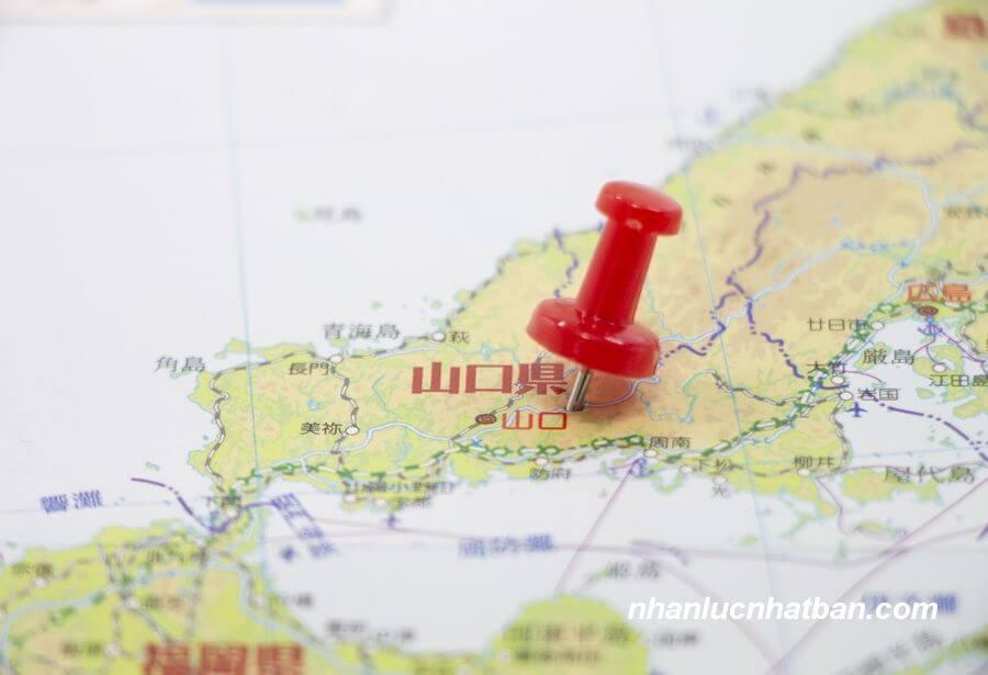 Vị trí địa lý tỉnh Yamaguchi